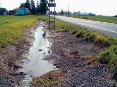 roadside ditch