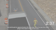 Inspector Run Over by an Asphalt Truck