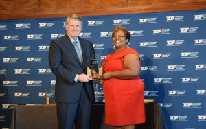 Kimberly Sims, 35 Express Public Information Manager (right) accepts Work Zone Safety Award.