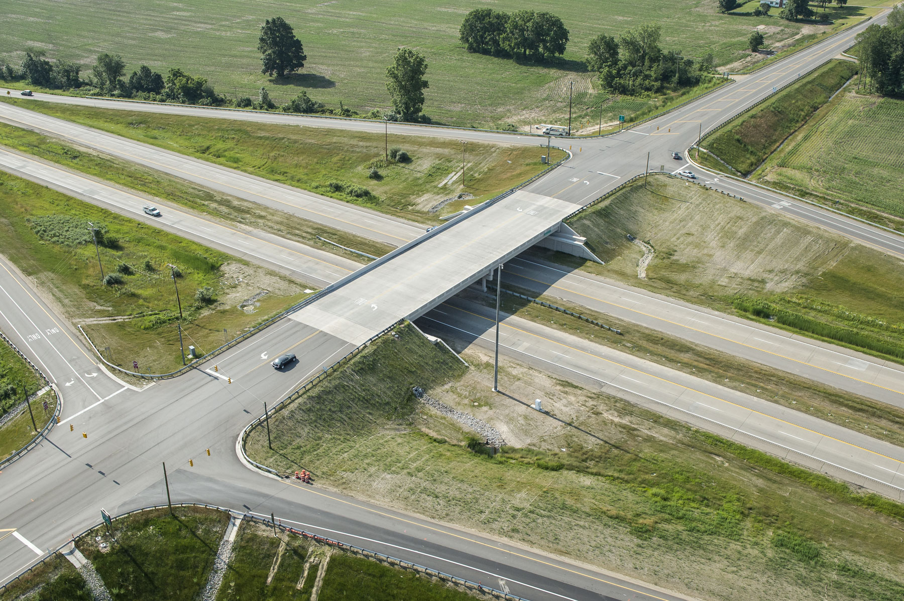 After image of M-50/I-96 interchange in Kent County, Mich.