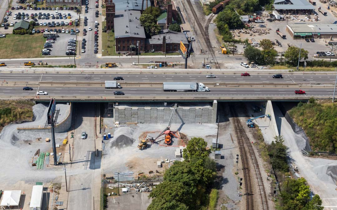 One of the eight bridges on Interstate 40 in Nashville, Tenn. Photo courtesy of Aerial Innovations.