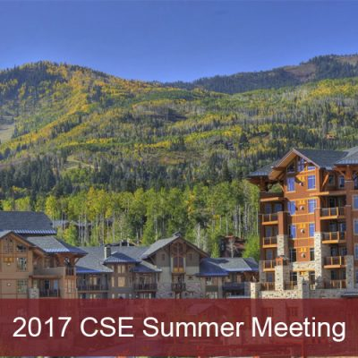 2017 CSE Meeting