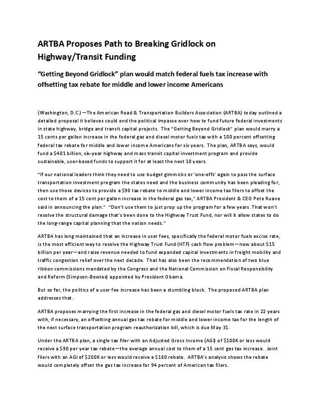 2015-NR-ARTBA-Proposes-Path-to-Breaking-Gridlock-on-Resolving-Highway-Trust-Fund-Problem-page-001